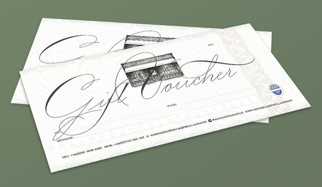 Sophie Campbell guiding gift vouchers